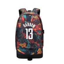 Harden McGrady USB Canvas Bag Backpack Men Women Large Capacity Travel Backpack Boy Girl School Bag For Students Casual Rucksack все цены