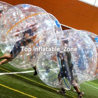 Free shipping popular 1.7m 0.8mm PVC giant bubble ball inflatable bumper bubble ball for adult