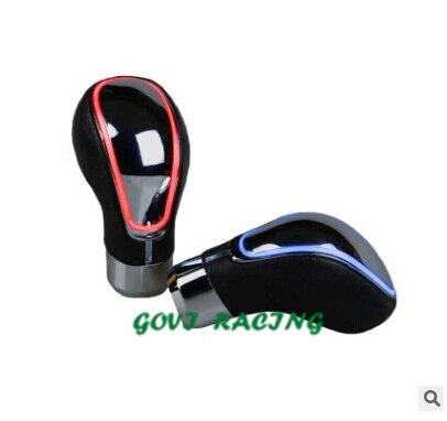 Синий светодиод кожа Универсальный Руководство Авто рычага переключения передач для Тюнинг автомобилей передачи Pomo chche palanco Камбио