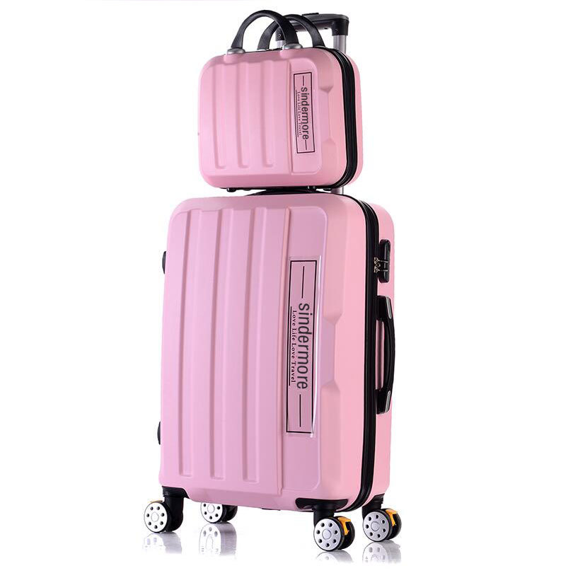 Fashion 2PCS/SETS rolling luggage set 14cosmetic bag+202428 suitcase carry on travel luggage sale children's girls suitcases vintage suitcase 20 26 pu leather travel suitcase scratch resistant rolling luggage bags suitcase with tsa lock