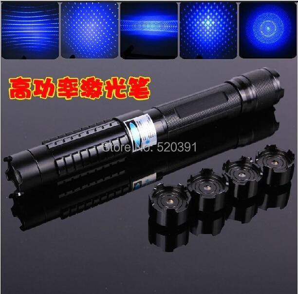 все цены на Strong Power Military Blue Laser Pointer 10000mw 10W 450nm Burn Match Dry Wood/Black/Burn Cigarettes+5 Star Heads+Charger+GIFT онлайн