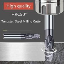 ZGT фреза металла резак HRC50 4 рифленая Концевая фреза Cnc инструменты сплав карбида фрезерования Вольфрамовая сталь фрезерный станок 8 мм