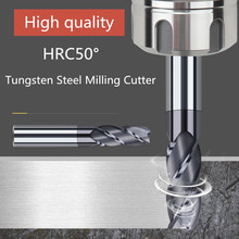 ZGT freze kesicisi Metal Kesici HRC50 4 Flüt Frezeler CNC araçları Alaşım Karbür Freze Tungsten Çelik freze kesicisi End Mill 8mm