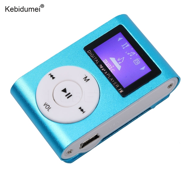 kebidumei Mini USB Clip MP3 Player LCD Screen Support Micro SD TF     kebidumei Mini USB Clip MP3 Player LCD Screen Support Micro SD TF Card  Digital Car MP3