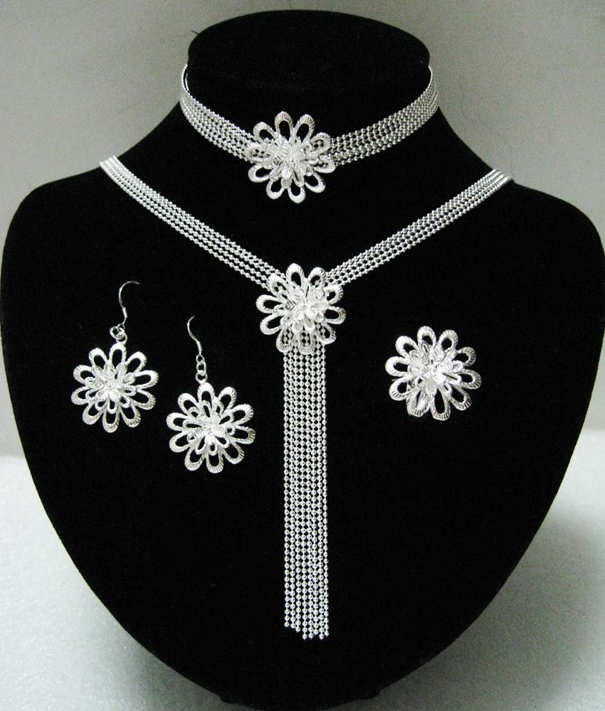 flowers accessories wedding womam for selling sets sterling woman jewellery evystz on silver jewelry in shipping fashion hot item from set fine free