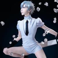 Land Of The Lustrous Cosplay Costumes Phosphophyllite Cinnabar Diamond Bort Morganite Antarcticite Jumpsuits Suits Anime Uniform