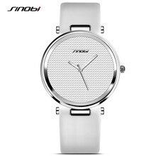 SINOBI Fashion Black Womens Wrist Watches Leather Watchband Luxury Brand Simple Ladies Geneva Quartz Clock Female