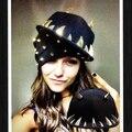 Новая Мода Женщин Людей Добычу Туск Клыки Заклепки Хип-Хоп Cap панк-Рок Стиль Бейсболки Черный Snapback Шляпы Для Мужчин и для Женщин