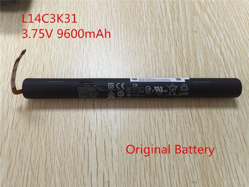 New original L14C3K31 battery for lenovo YOGA Tablet 2 YT2-1050F YT2-1051F L14d3k31 L14D2K31 batterie AKKU 3.75V 9600mah 3 75v 9000mah new original laptop battery for yoga 10 tablet b8000 10 battery l13d3e31 l13c3e31 batteries free shipping