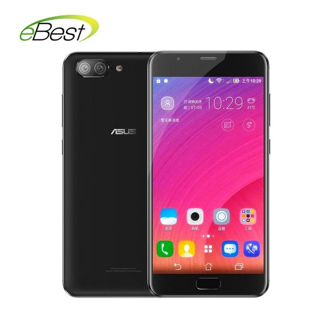 Asus Zenfone 4 Max ZB500TL мобильного телефона 5 дюймов HD MT6737 3 ГБ Оперативная память двойной задняя линза 4100 мАч аккумулятора отпечатков пальцев ID сотовом телефоне