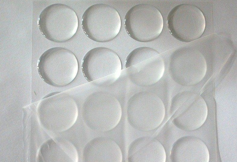 200 pcs 1 inch Round 3D Crystal Clear Epoxy Adhesive Circles Bottle Cap Stickers JK23