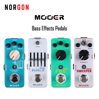 Mooer Bass Electric Guitar Effects Pedal Fuzz Squeeze EQ True Bypass Fog/Ensemble Queen/Graphic B/Sweeper Parts and Accessories