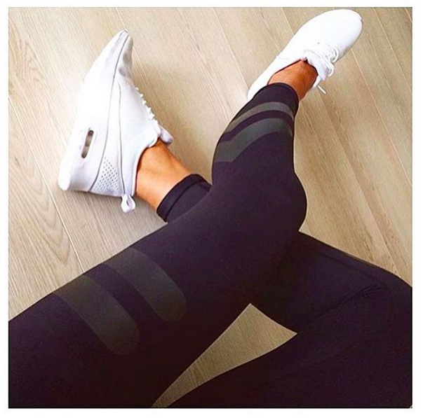 307fee0a24419 fashion customized Sporting Legging Women Skinny Elastic Fitness Leggings  Pant Sexy Push Up Workout Sporting Trousers
