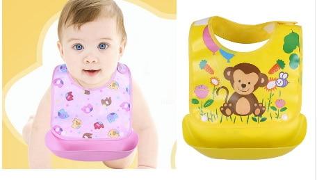 EVA newborn baby bibs waterproof aprons infant saliva towels cute cartoon cloth