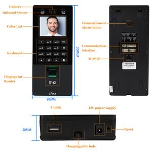 Image 3 - Biometric Facial Face Recognition TCP/IP Fingerprint USB Password Key Access Control syetem Device Time Attendance electric lock