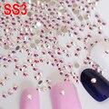 SS3 Clear Crystal AB  Nail Rhinestones Decorations Non Hotfix Rhinestone Glue on Stones  For Nail Art Phone Beauty H0095