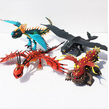 Comment dresser Votre Dragon 2 Dragon Édenté Nuit Fury Action Figure PVC Poupée 4 Styles 25-37 cm livraison Gratuite 4 Pcs/Lot