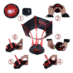 Image 2 - For GoPro 8 Parachute Bird Fly Photography Bracket Stand For Go Pro Hero 5 Hero 6 Hero 7 8 Black Frame Aerial View Accessories
