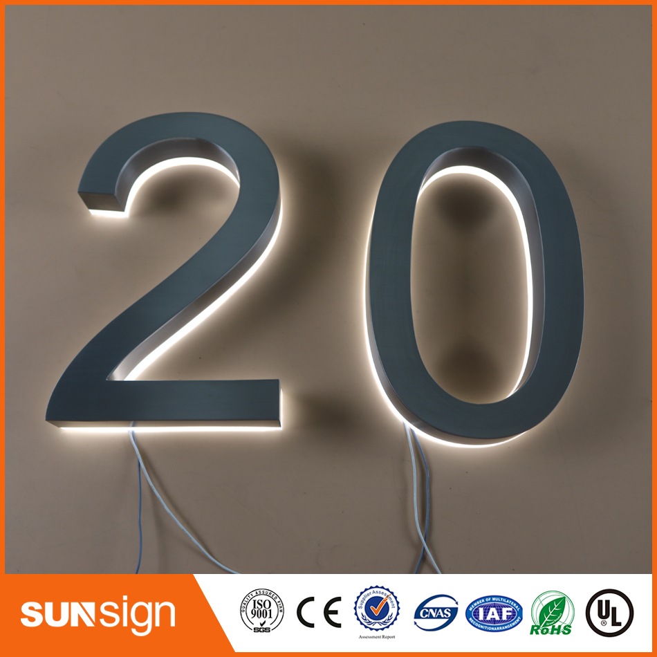 Expressive Custom Apartment Led Numbers And Company Name Size H200mm Bright In Colour