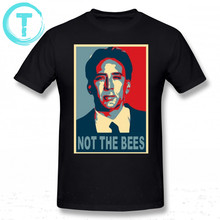 Nicolas Cage T Shirt Nicolas Cage Not The Bees T-Shirt Men Plus size Tee Shirt Short Sleeve Cotton Funny Print Beach Tshirt(China)