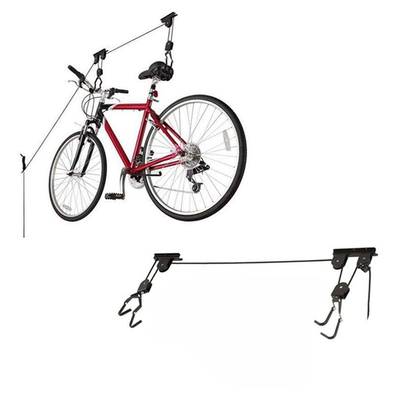 Toit plafond poulie rack mural en acier vélo ascenseur plafond monté palan stockage Garage vélo cintre économiser de l'espace