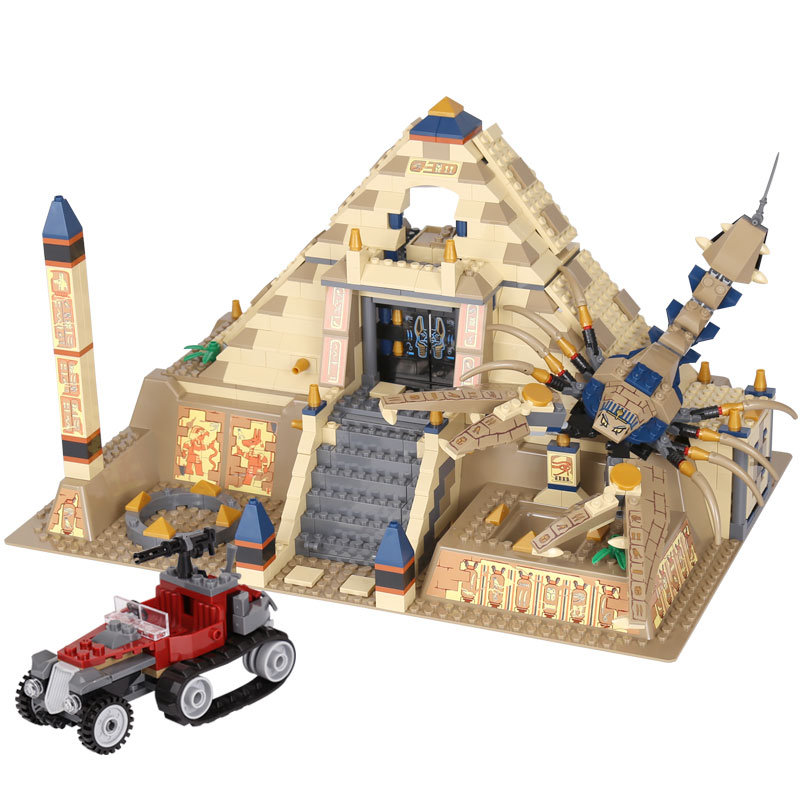 Lepin 31001 822Pcs Egypt Pharaoh Series The Scorpion Pyramid Building Blocks Bricks Toys Children Educational Model Gifts 7327 funny bricks blocks anti stress tricks fun toys intelligent pyramid educational toys family party game