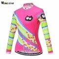 Weimostar 2018 Женская велосипедная Джерси с длинным рукавом флуоресцентная велосипедная Одежда mtb Maillot Ropa Ciclismo куртка велосипедная Джерси
