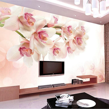 Custom Flowers Wall Papers Photo Wallpaper Embossed Non-Woven Modern 3d Wallpaper for Living Room Kitchen Wall Mural Wallpaper