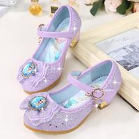 KKABBYII Sandali Delle Ragazze Elsa Principessa Scarpe Eleganti scarpe Da Ballo Del Partito Scarpe Da Sposa Chaussure Enfants Blu Rosa Viola