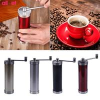 2018 New Portable Manual Coffee Grinder ceramics Core Stainless Steel Hand Coffee Bean Grinding Machine Hand Burr Mill Grinder