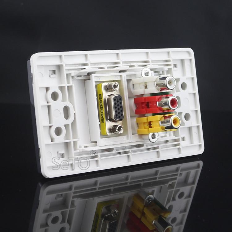 Phenomenal Seto 120 Type Vga Projector Rca Av Audio Video Wall Plate Socket Wiring Digital Resources Nekoutcompassionincorg