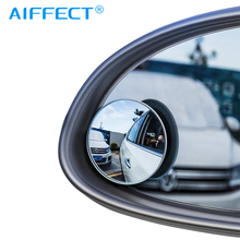 AIFFECT 2Pcs Car Holder HD Rear View Convex Mirror Auto Rearview 360 Degree Wide Angle Vehicle Blind Spot Rimless Mirrors