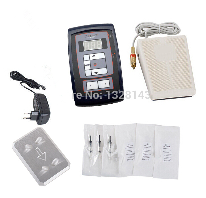 Professional Permanent Makeup Kit High Quality Tattoo Eyebrow Pen LCD Power Supply Footswitch 30pcs Needles Free Shipping professional permanent makeup tattoo eyebrow pen machine 50 needles tips power supply set us plug drop shipping wholesale