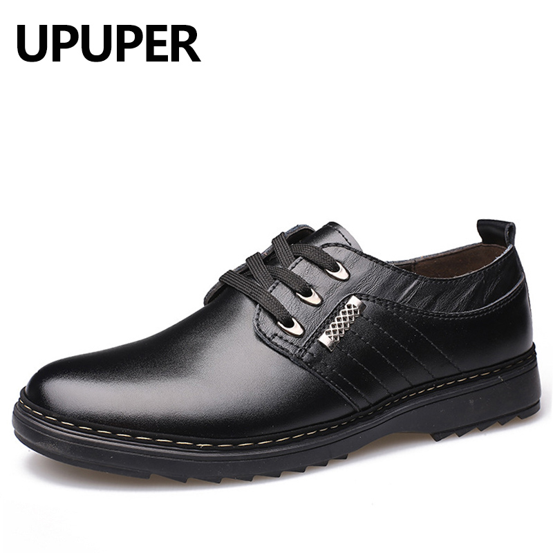 UPUPER 2018 Oxfords Men Spring Autumn New British Lace Up Leather Male Casual Shoes Fashion Mocassins Breathable Men's Flats chilenxas new fashion spring autumn leather men casual shoes breathable lightweight comfortable lace up solid waterproof 2017