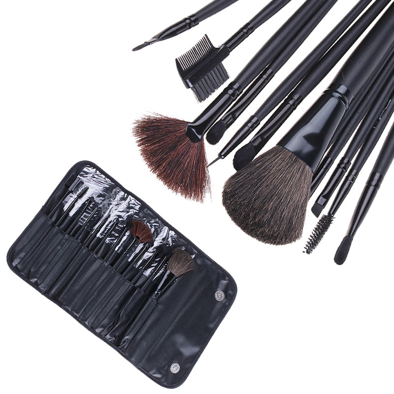 High Quality Professional 12Pcs Makeup Brushes Kit Make Up Brush Set 12pcs Cosmetics Tools With Black Pouch Bag professional makeup brush set 12pcs high quality makeup tools