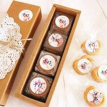 360 шт цветок сливы пломба-наклейка для подарка стикер для пекарни печенья мешок коробка шоколадных конфет ремесло 3,5 см