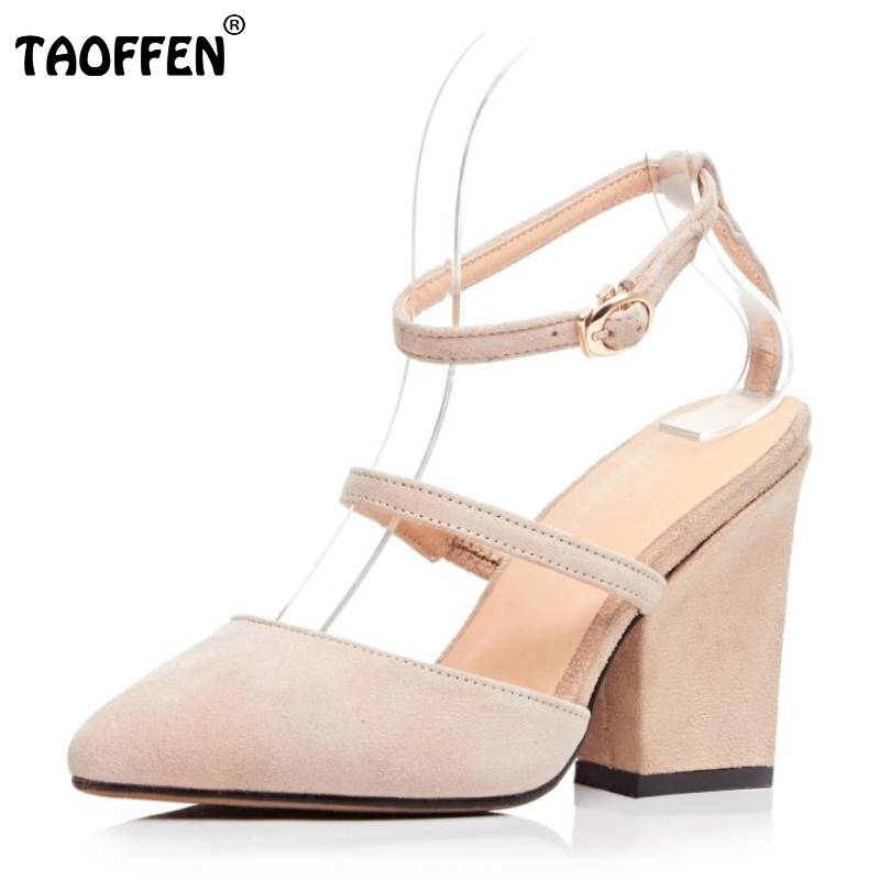 Female Genuine Leather High Heeled Sandals Cross Strap Pointed Toe Thick Heels Sandal Fashion Sexy Party Footwears Size 34-39 fashion women mixed color sandals sexy pointed toe high heels shoes ankle strap rivets patent leather sandal plus size smybk 045
