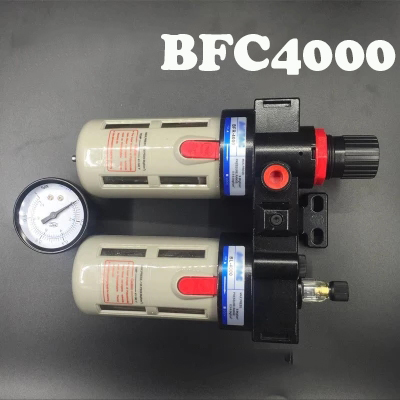 Air processor BFC4000 Free Shipping ,BFR4000 + BL4000 1/2 Air Filter Regulator Combination Lubricator ,FRL Two Union Treatment