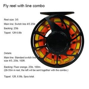 Image 5 - NEUE Aventik Alle Mal IM12 Nano Carbon Fiber Kurze Schalter Fly Stangen Und Fly Angelrute Combo Mit Fly Linie sichern Linie Sets