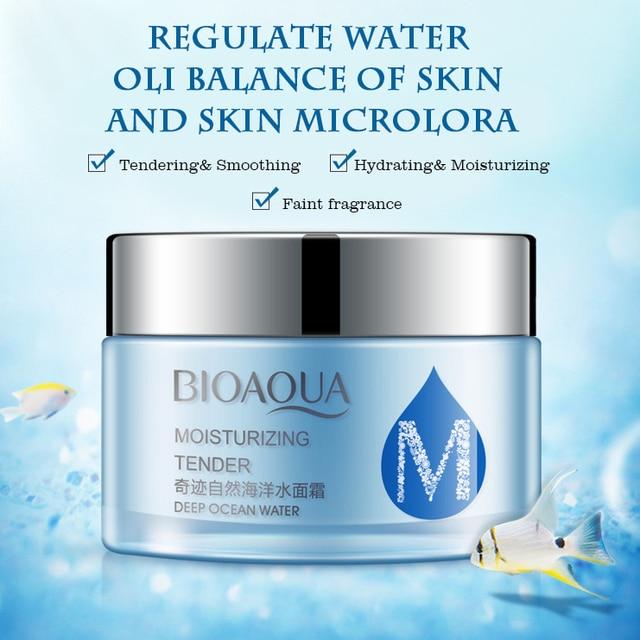 Bio aqua ocean water moisturizer frost emulsion cosmetics moisturizing face cream skin care beauty health day & night cream base