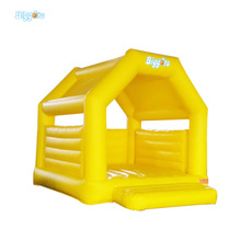 Mini Yellow Color Inflatable Bouncy Castle Bouncer for Rental Use