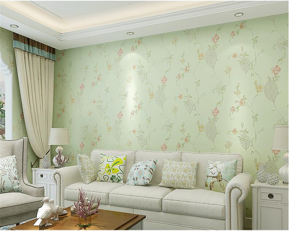 beibehang Fashion garden flowers wallpaper bedroom warm girl room fresh floral nonwoven living room papel de parede wall paper beibehang girl pink garden flowers 3d wallpaper non woven wall paper children s room princess bedroom bedroom romantic and warm