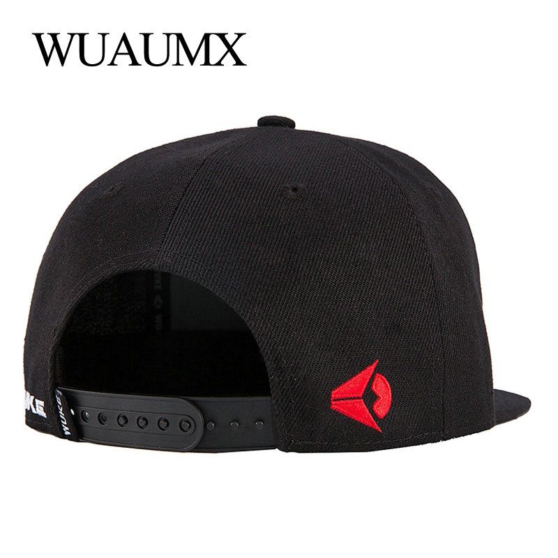 Wuaumx Brand Snapback Caps For Men Flat Brimmed Hat for Women Baseball Caps gorras Snap back Hip Hop Casquette Bone Masculino in Men 39 s Baseball Caps from Apparel Accessories