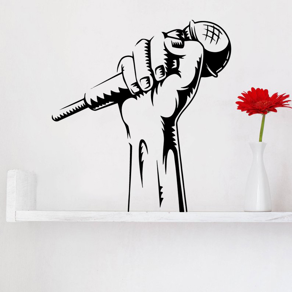 Colorful Music Wall Sticker Home Decoration For Baby Kids Rooms Decor Decoration Murals naklejki na sciane in Wall Stickers from Home Garden