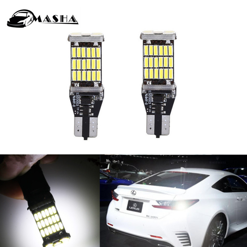 1pcs Led T15 W16W Canbus car styling reverse backup bulbs light lamp for lexus ES240 ES350 IS250 IS300 LS GS LX RX