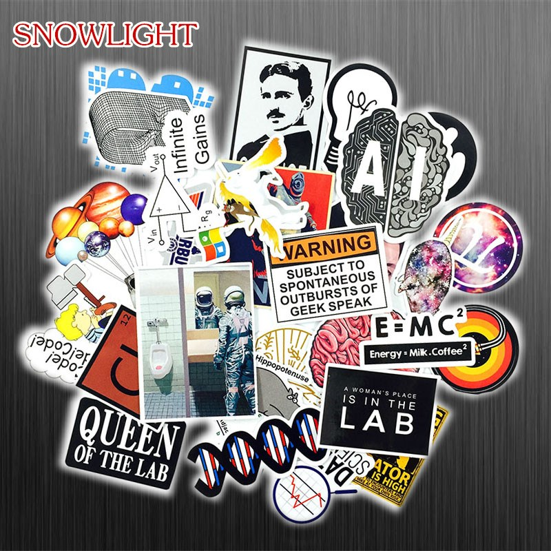 30 PCS Science Physical Java Subject Stickers AI Binks Astronaut Code Cartoon Children Stickers PVC Scrapbook Gifts For Kids