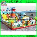 Новый Дизайн акула надувные города весело, детский парк аттракционов надувные, надувные парк развлечений для продажи