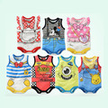 Baby Rompers Newborn Baby Girl Boys Clothes 2016 Summer Sleeveless Baby Clothes Cartoon Print Newborn Romper Baby Costume 6-18M
