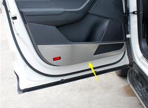 Porta de aço inoxidável kick pad porta do carro anti kick almofada carro anti kick pad porta do carro anti kick almofada para skoda kodiak