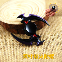 Naruto Metal Gyro Adult Recreational Stress Toy The Ninja Rotates Darts Classic Toys Spinning Top Hand